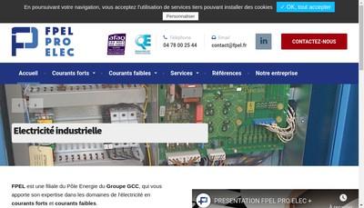 Site internet de Force Puissance Electricite Lyonnai