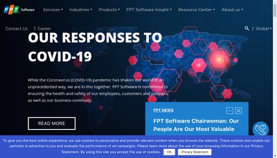 Site internet de Fpt Software Europe