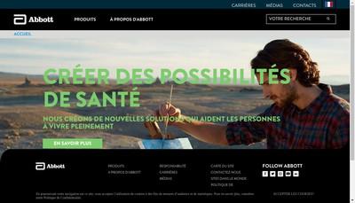 Site internet de Abbott Products Distribution