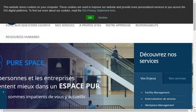 Site internet de Iss Facility Services