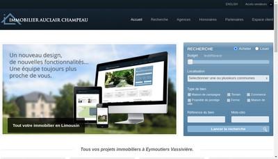 Site internet de Immobilier Auclair Champeau