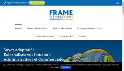 Site internet de Frame Management