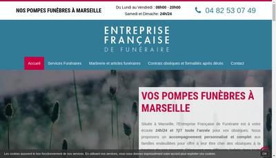 Site internet de Entreprise Francaise de Funeraire