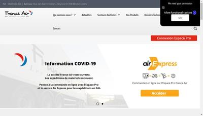 Site internet de France Air