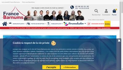 Site internet de France Barnums France Tonnelles France Serre Tente Pliante Pas Chere France Buvettes