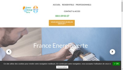 Site internet de France Energie Verte