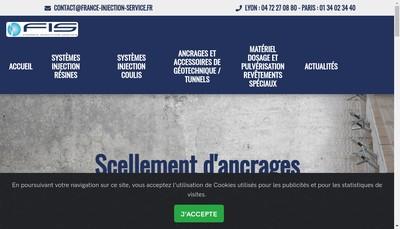 Site internet de France Injection Service