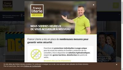 Site internet de France Literie