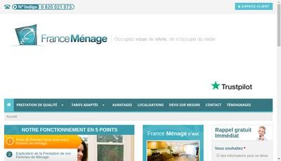 Site internet de France Menage Pro