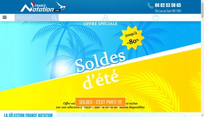 Site internet de France Natation