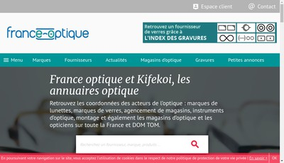 Site internet de Kering Eyewear France