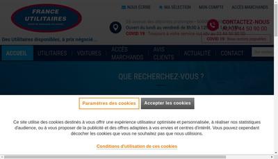 Site internet de France Utilitaires