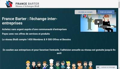 Site internet de France Barter