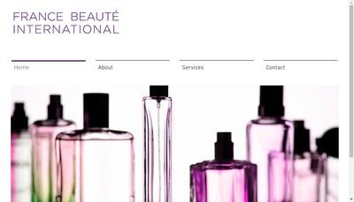 Site internet de France Beaute International