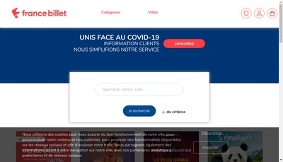 Site internet de France Billet