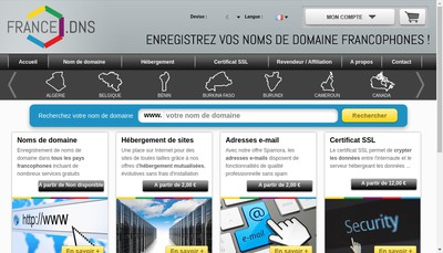Site internet de Francedns