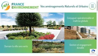 Site internet de France Environnement