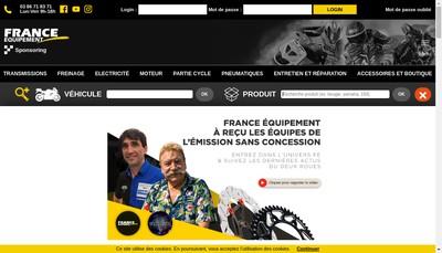 Site internet de France Equipement