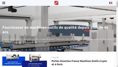 Site internet de Paris Machines Outils