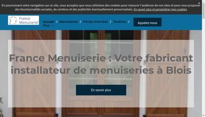 Site internet de France Menuiserie 41