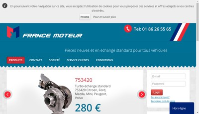 Site internet de France Moteur