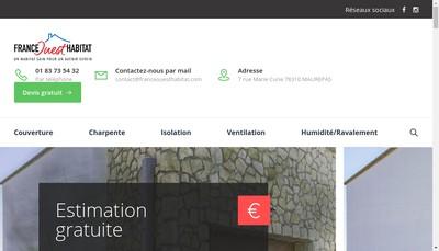 Site internet de France Ouest Habitat Suc