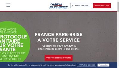 Site internet de France Pare Brise