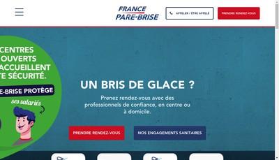 Site internet de France Pare-Brise