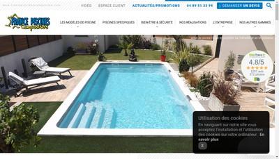 Site internet de France Piscines Composites
