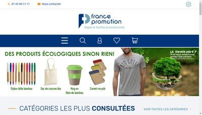 Site internet de France Promotion Eurocadeaux