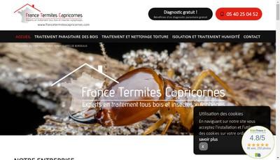 Site internet de France Termites Capricornes