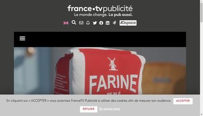 Site internet de France Televisions Publicite