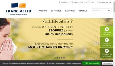 Site internet de Franciaflex