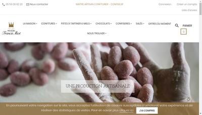 Site internet de Confiturerie Francis Miot