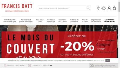 Site internet de Francis Batt