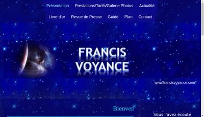 Site internet de Francis Voyance