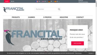 Site internet de Francital Environnement