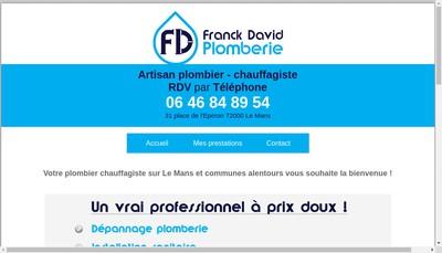 Site internet de Franck David Plomberie
