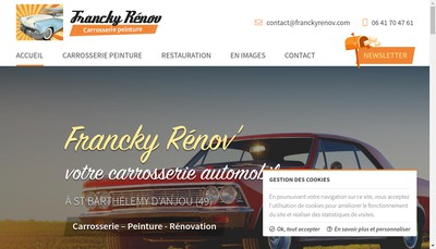 Site internet de Carrosserie Francky Renov