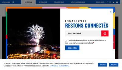 Site internet de Francofolies