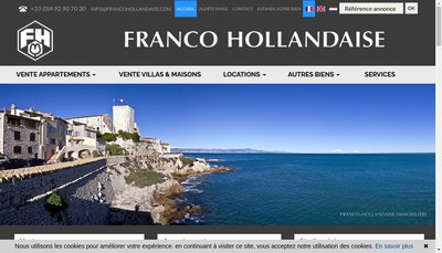 Site internet de Franco Hollandaise Immobiliere