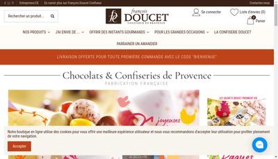 Site internet de Francois Doucet Confiseur