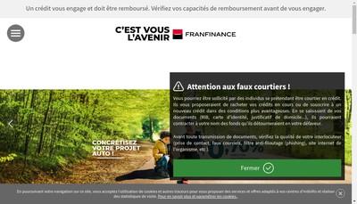 Site internet de Franfinance Location