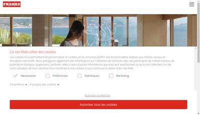 Site internet de Franke-France