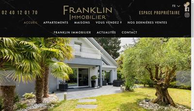 Site internet de Franklin Immobilier