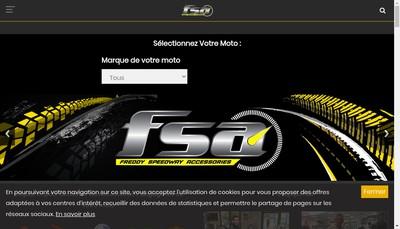 Site internet de Fsa (Freddy Speedway Accessories)