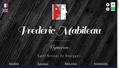 Site internet de Frederic Mabileau
