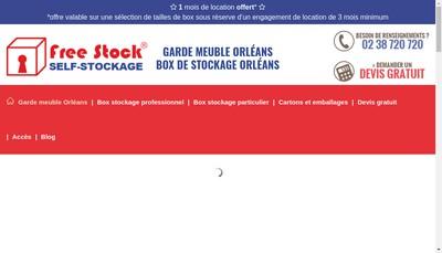 Site internet de Free Stock Self-Stockage