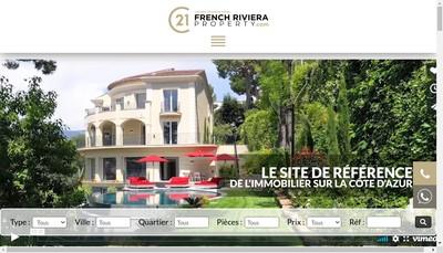 Site internet de French Riviera Properties