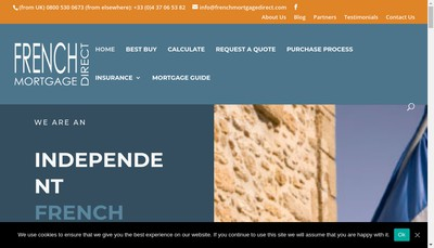 Site internet de French Mortgage Direct, Love Finance
